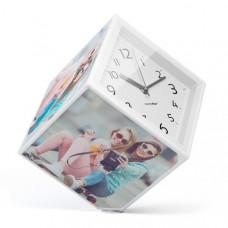 Rotujúca fotokocka s hodinami Balvi Photo-Clock 15x15cm