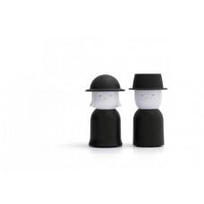 Soľnička a korenička Qualy Mr.Pepper & Mrs. Salt, čierne