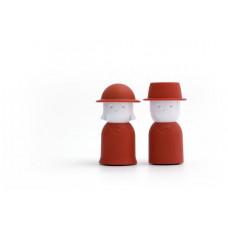 Soľnička a korenička Qualy Mr.Pepper & Mrs. Salt, červená