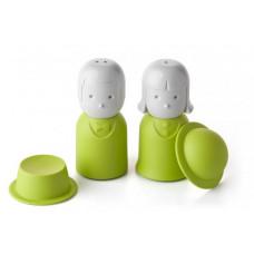 Soľnička a korenička Qualy Mr.Pepper & Mrs. Salt, zelená