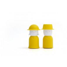 Soľnička a korenička Qualy Mr.Pepper & Mrs. Salt, žltá