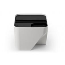 Stohovateľný odpadkový kôš Qualy Block 20, biely