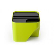 Stohovateľný odpadkový kôš Qualy Block 20, zelený
