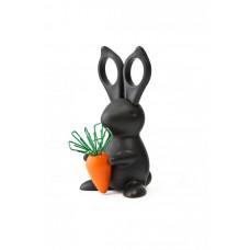 Stojanček s nožnicami Qualy Desk Bunny Scissors, čierny