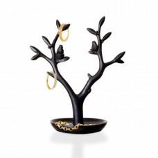 Stojan na šperky INVOTIS Magpie, čierny