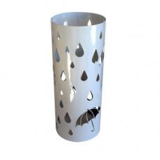Stojan na dáždniky INVOTIS Round, biely