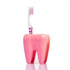 Stojan na kefky zub ružový
