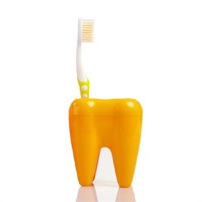 Stojan na kefky zub oranžový