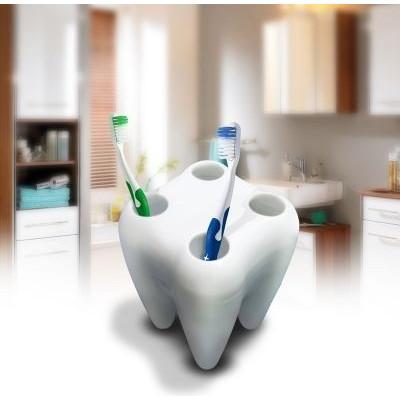 Stojan na kefky zub biely