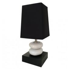 Stolová lampa Double stone black, 37cm