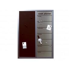Týždenný plánovač s nástenkou, Memo board, 70cm