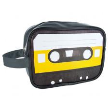 Taštička na toaletné potreby Silly Cassette, žltá