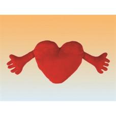 Vankúš - srdce s rukami