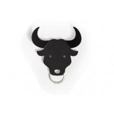 Vešiačik na kľúče Qualy Bull Key Holder, býk čierny