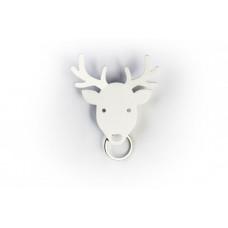 Vešiačik na kľúče Qualy Deer Key Holder, jeleň biely