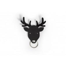 Vešiačik na kľúče Qualy Deer Key Holder, jeleň čierny