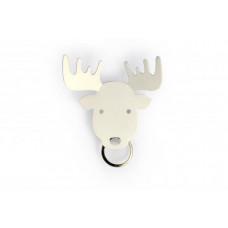 Vešiačik na kľúče Qualy Moose Key Holder, los biely