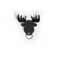 Vešiačik na kľúče Qualy Moose Key Holder, los čierny