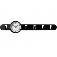 Vešiak s hodinami Balvi Clock In čierny 57cm