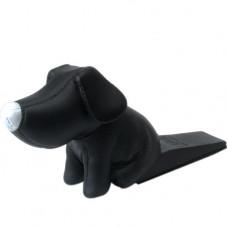 Zarážka do dverí v tvare psíka, čierna 18x 9 cm