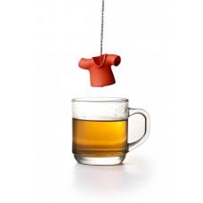 Čajové sitko Qualy Tea Shirt, červené