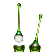 Čajové sitko s miskou SAGAFORM Tea Strainer, zelené