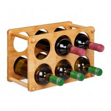 Bambusový stojan na víno na 6 fliaš, RD8815