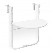 Balkónový závesný stôl Bastian skladací biely rd0054