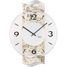 Dizajnové nástenné hodiny AMS 9624, 39 cm