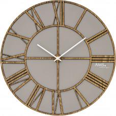 Drevené nástenné hodiny AMS 9635, 40 cm
