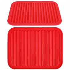 Kuchynská silikónová podložka červená