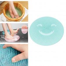 Silikónová masážna podložka do sprchy B2 7767, modrá