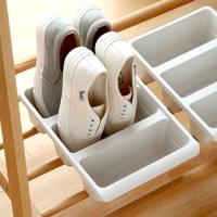 Plastový organizér na topánky B2 7848, biely