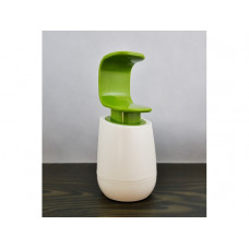 Dávkovač tekutého mydla ovládaný jednou rukou Céčko biely / zelený