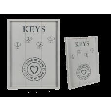 Drevený vešiak na kľúče I love my home, gm210