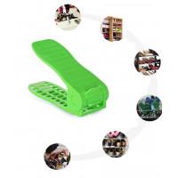 Plastový organizér na topánky - zelený, sada 2ks