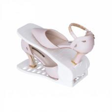 Plastový organizér na topánky - biely, sada 2ks