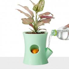 Samozavlažovací kvetináč B2, zelený