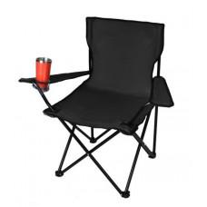 Skladacia rybarská stolička isot8001, čierna