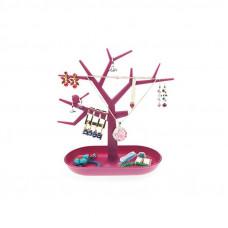 Stojan na šperky TREE, fialový