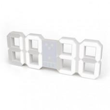 Hodiny s budíkom Balvi Digital L, biele 45cm