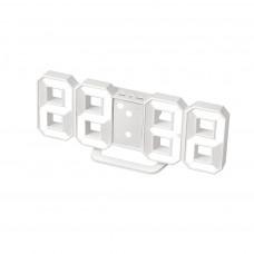 Hodiny s budíkom Balvi Digital S, biele 21 cm