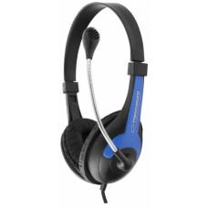 Slúchadlá s mikrofónom Espa Rooster 158B, čierno-modré