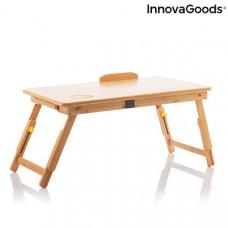 Skladací bambusový stolík InnovaGoods Lapwood IN3031