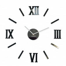 3D Nalepovacie hodiny DIY ADMIRABLE L SWEEP 54C-1, čierne 50-75cm