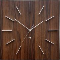 Dizajnové nástenné hodiny Future Time FT1010WE Square dark natural brown 40cm