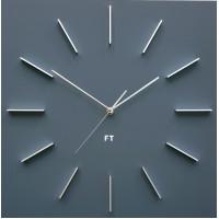 Dizajnové nástenné hodiny Future Time FT1010GY Square grey 40cm