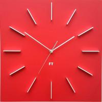 Dizajnové nástenné hodiny Future Time FT1010RD Square red 40cm