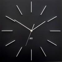 Dizajnové nástenné hodiny Future Time FT1010BK Square black 40cm