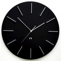 Dizajnové nástenné hodiny Future Time FT2010BK Round black 40cm